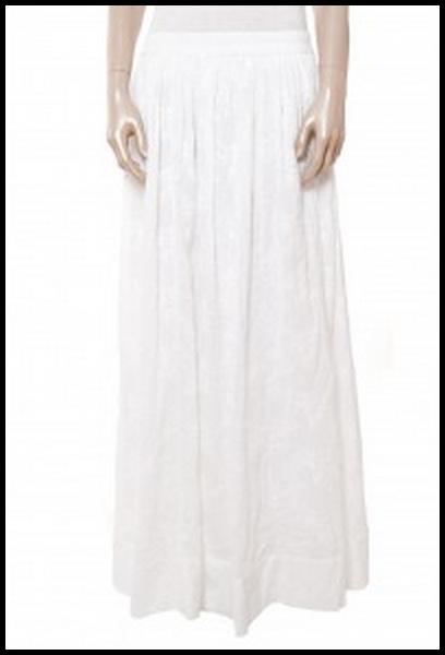jupe blanche longue