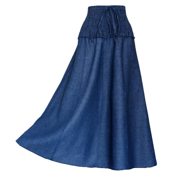 jupe en jean longue