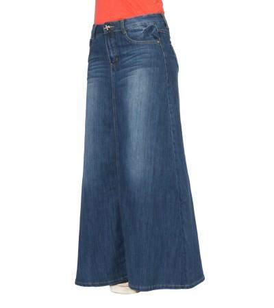 jupe jean longue