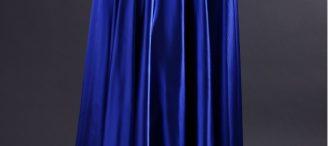 Jupe longue bleu roi