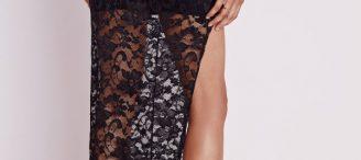 Jupe longue dentelle noire