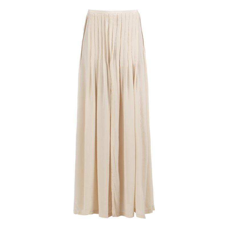 jupe longue en soie