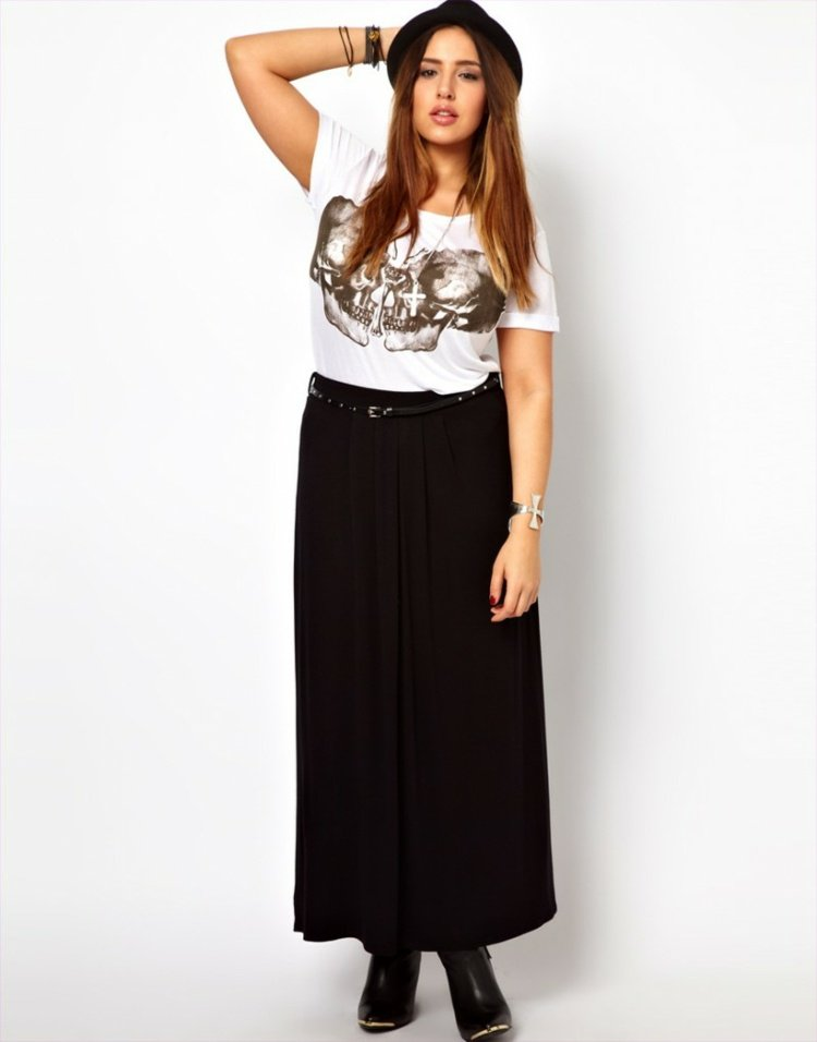 jupe longue femme ronde