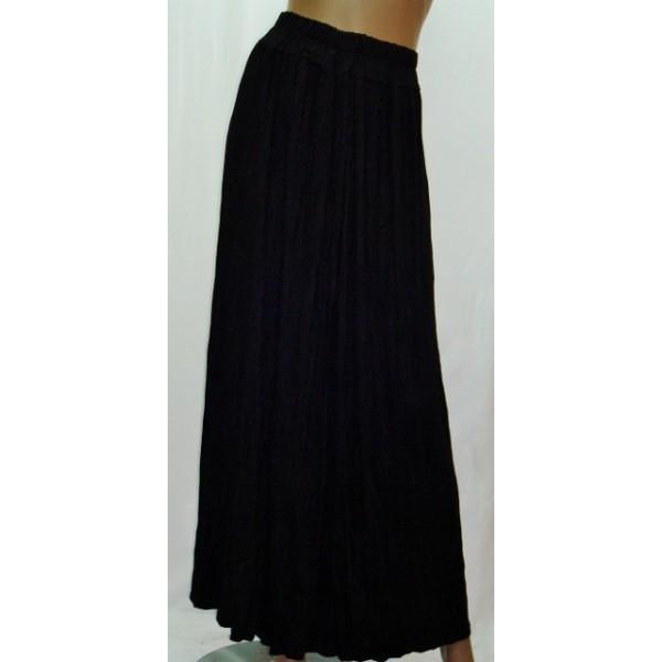 jupe longue fluide noire