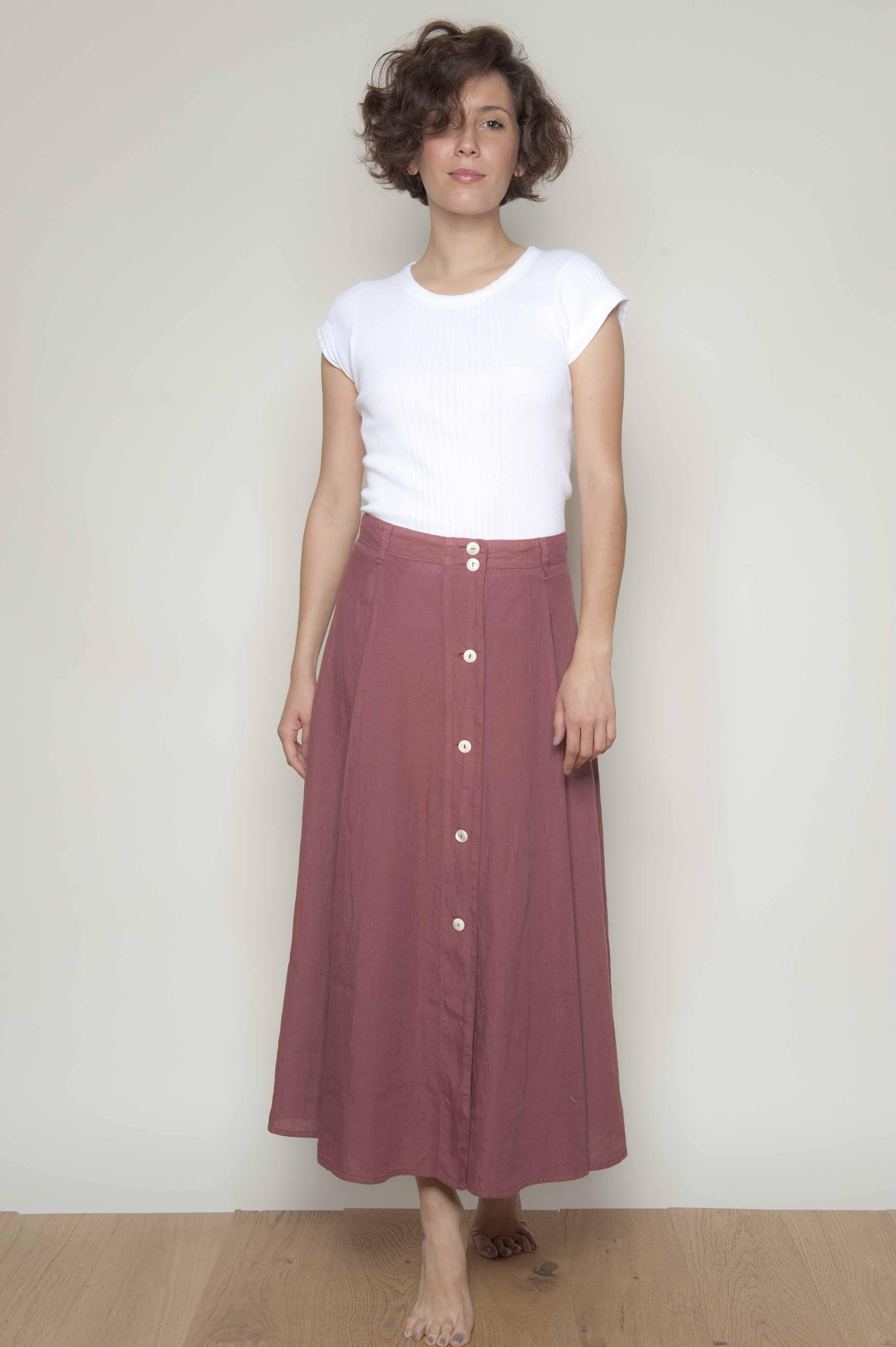 jupe longue lin