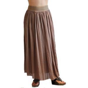 jupe longue marron