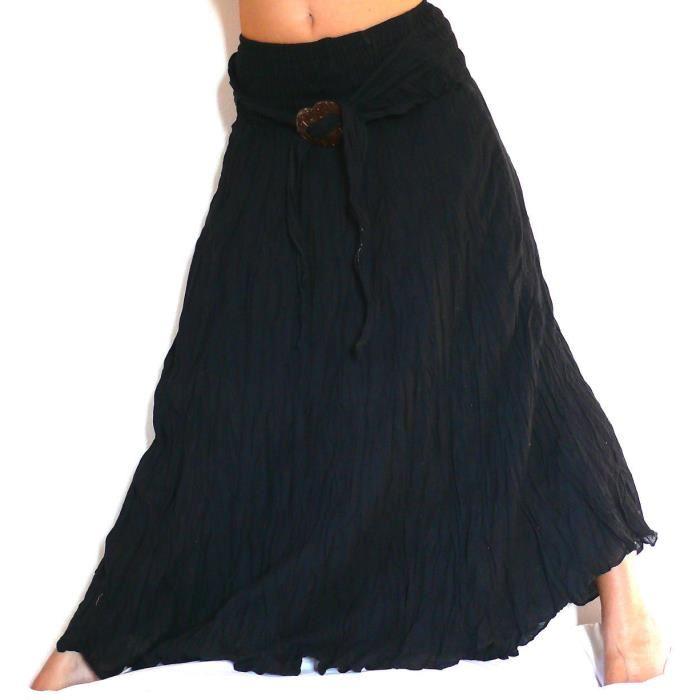 jupe longue noir pas cher