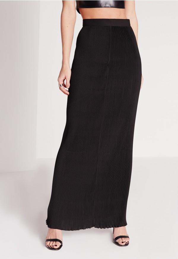 jupe longue noire droite