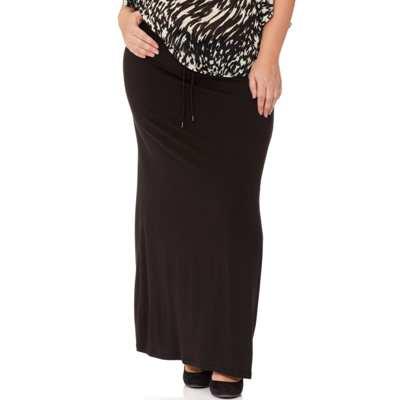 jupe longue noire grande taille
