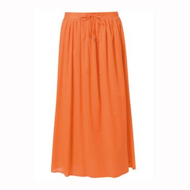jupe longue orange