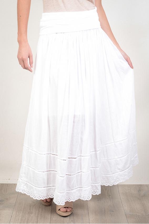 jupe longue taille elastique