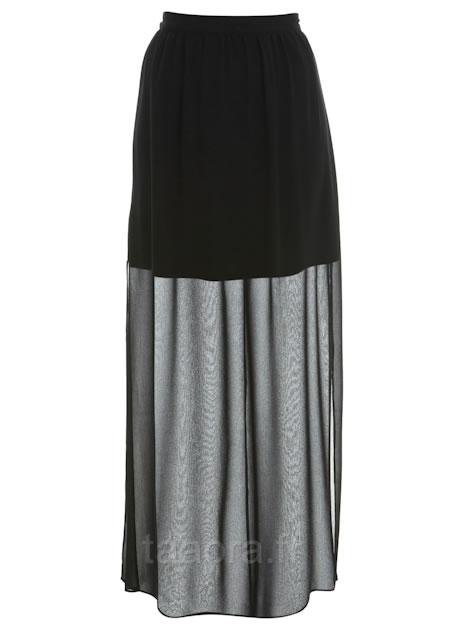 jupe longue transparente