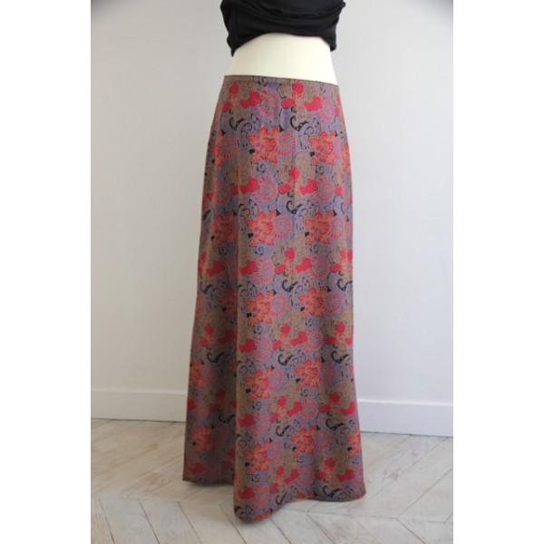 jupe longue trapèze
