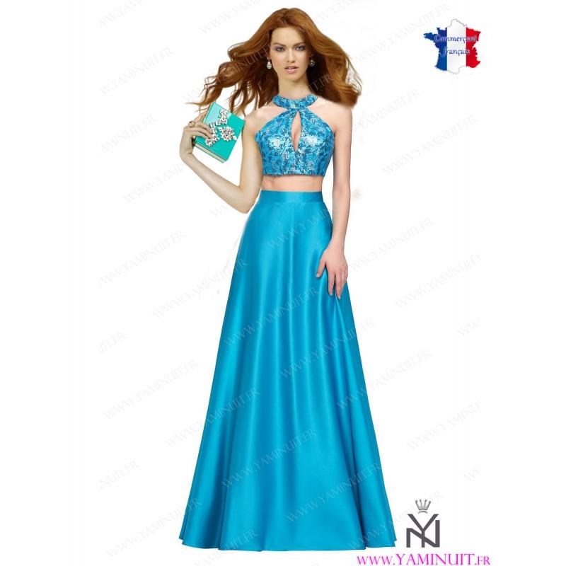 jupe longue turquoise