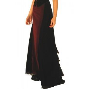 jupe longue velours