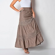 jupe longue volantée