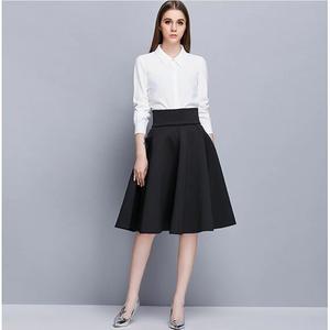 jupe noir mi longue