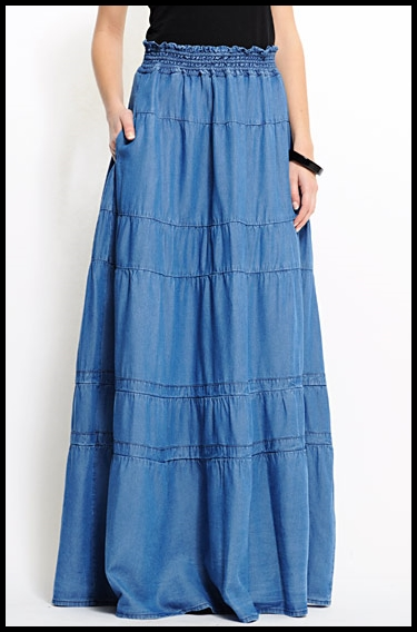 jupes longues en jean