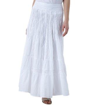 longue jupe blanche