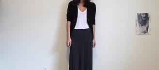 Longue jupe noire