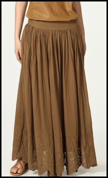 longue jupe zara