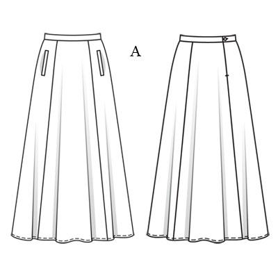 patron de jupe longue