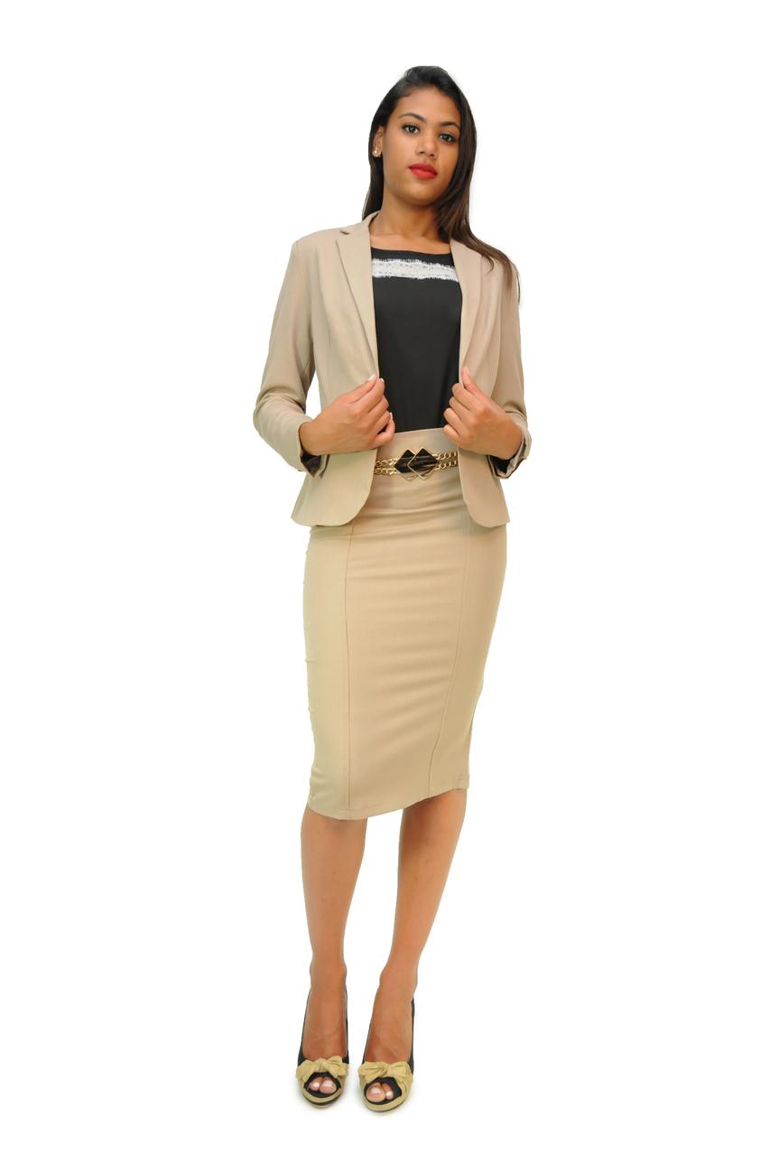 tailleur jupe longue femme