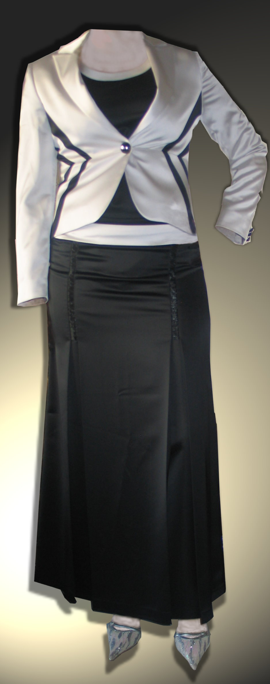 tailleur jupe longue